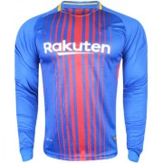 IMP Red and Blue Football Team Fan Dry Fit Long Sleeve New Jersey
