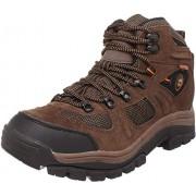 Nevados Men's Klondike Mid Waterproof Hiking Boot, Earth Brown/Black/Tigerlily Orange, 7 M US