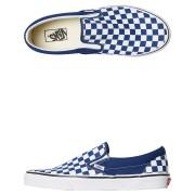 Vans Mens Classic Slip On Checkerboard Shoe Blue