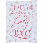 Tablita decorativa suspendabila cu mesaj motivational Thank You 30*1*40 cm