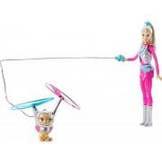 Mattel Lalka DWD24 Barbie Gwiezdna Przygoda i latający kotek