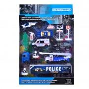 Set de vehicule de politie si accesorii, 6 vehicule, 3 ani+
