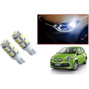 Auto Addict Car T10 9 SMD Headlight LED Bulb for Headlights Parking Light Number Plate Light Indicator Light For Honda Brio