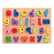 girlove Puzzle for Kids 1-3 Years, Wooden Numbers and Letters Jigsaw Learning Educational Puzzles Toy (Small Letter)