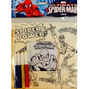 """Spider Man Preprinted Wooden Frame ~ Paint Or Color Your Own Stand Up Art ~ 6"""" X 6"""""""