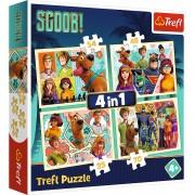 Puzzle clasic copii - Scooby Doo si prietenii, 4in1, Trefl