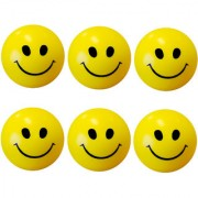 GENERIC Stress Relief Smiley Soft Ball Set of 6 PC