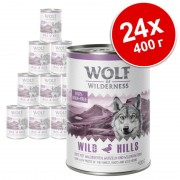 Икономична опаковка: Wolf of Wilderness 24 x 400 г - White Infinity - конско