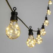 Luci Da Esterno Catenaria 5 metri con 10 lampadine vintage, led bianco caldo, prolungabile