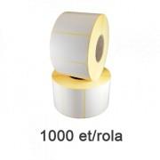 Fehér műanyag etikett címke, 50x30mm, 1000 címke/tekercs
