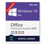 Windows 10 Pro + Microsoft Office 2019 Home and Student Bundle - Digital Licences