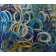 Elastice Rainbow Loom - Metalic Mix2-300 buc