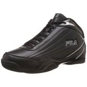 Fila Men's Slam 12C Black and Metallic Silver Basketball Shoes -7 UK/India (41 EU)
