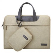 13.3 inch Cartinoe Business Series Exquisite Zipper Portable Handheld Laptop Bag with Independent Power Package for MacBook Lenovo and other Laptops Internal Size:31.0x21.5x3.0cm(Khaki)