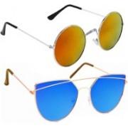 Vitoria Round, Aviator Sunglasses(Multicolor)