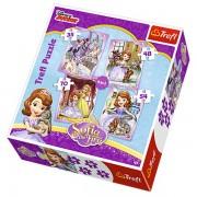 Trefl Puzzle Slagalica 4u1 Sofias Happy Day (34247)