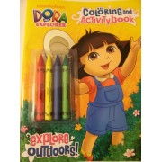 Dora the Explorer Coloring and Activity Book with 4 Jumbo Crayons ~ Explore Outdoors!