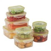 Honey-Can-Do KCH-03828 Snap-Tab Rectangular Food Storage Container Set Kit, BPA Free, 16-Piece