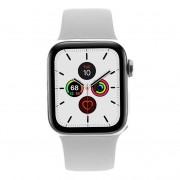 Apple Watch Series 5- caja de acero inoxidable plata 40mm - correa deportiva blanca (GPS + Cellular) refurbished