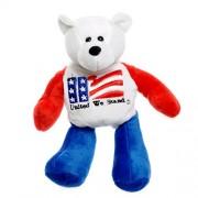 "United We Stand America Us Flag American Patriotic Plush Stuffed Teddy Bear Doll (8.25"" Tall)"