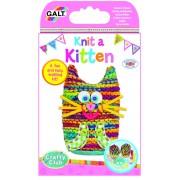 Set de tricotat pentru copii Galt Pisicuta, dezvolta simturile estetice