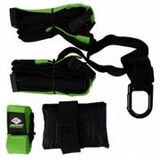 Schildkröt Fitness suspension trainer 180 x 4 cm zwart/groen