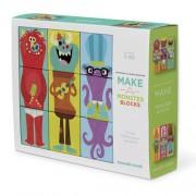 Crocodile Creek Klocki układanki, zbuduj potwora - puzzle dla dzieci 3D, 9 elementów,