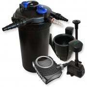WILTEC Kit de Filtration Bassin à pression 30000l Stérilisateur 70W Pompe éco
