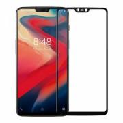 Folie protectie sticla securizata full size pentru OnePlus 6, negru