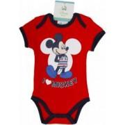 Body bebelusi Mickey Mouse rosu fete 56 cm