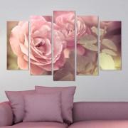 Декоративeн панел за стена с флорален мотив в розово Vivid Home