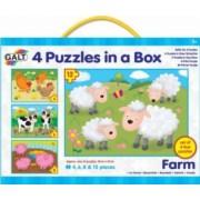 Set 4 puzzle-uri Animale de la ferma 4 6 8 12 piese