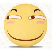 Chinese HUAJI Face Emoticon Expressions Faces Moods Emoji Pillow Emoticon Stuffed Plush Toy 38cmX38cm
