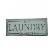 Mom`s Laundry... - Vintageinspirerad Metallskylt 30x13 cm