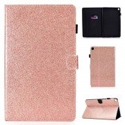 Samsung Voor Galaxy Tab S5e T720 Varnish Glitter Powder Horizontal Flip Leather Case met Holder & Card Slot(Rose Gold)