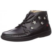 MARC JOSEPH NEW YORK Unisex Leather Ankle Boot Embroidered Star Detail Loafer, Black Nappa, 12.5 M US Little Kid