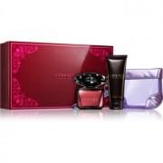 Versace Crystal Noir coffret XIV. Eau de Parfum 90 ml + leite corporal 100 ml + bolsa feminina