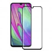 Eiger 3D Glass Edge to Edge Full Screen Tempered Glass - калено стъклено защитно покритие с извити ръбове за целия дисплея на Samsung Galaxy A40 (черен-прозрачен)