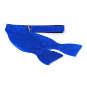 Selbstbinder Fliege Seide Kobaltblau F65 - Blau