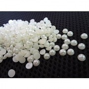 Pearl Beads half cut ( Moti ) 8Mm Used In dresses Jewelry Making Scrap Booking Wedding Trays Making Art Craft Set Of 200 Beads