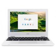 "Acer Chromebook CB3-131-C3SZ 11.6"" Laptop (Intel Celeron N2840 Dual-Core Processor,2 GB RAM, 16 GB unidad de estado sólido, cromo), White, Almeja, Concha de almeja, 2GB RAM, 16GB"