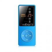 Leoie Reproductor de MP3 y MP4 portátil ultrafino para grabación de música y libros electrónicos 4 GB Azul 5C5F73FE3AC075C1