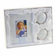 Set cadou rama foto cutiuta prima suvita si cutiuta primul dintisor Juliana bleu