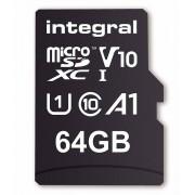 Card de memorie Integral 100V10 64GB Micro SDXC Clasa 10 UHS-I + Adaptor SD