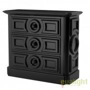 Comoda design elegant CAMBON negru dim.100X116cm 109617 HZ