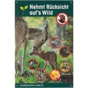Waidgerechte Jagd Warnschild ? Rücksicht auf Wild