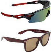 Zyaden Sports, Wayfarer Sunglasses(Multicolor, Brown)