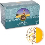Karma Kettle Ananda- Green Tea with Tulsi Ginger Marigold 25 Pyramid Teabags
