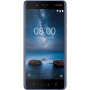 "Telefon Mobil Nokia 8, Procesor Octa-Core 2.5 / 1.8GHz, IPS LCD Capacitive touchscreen 5.3"", 4GB RAM, 64GB Flash, Dual 13MP, Wi-Fi, 4G, Dual Sim, Android (Albastru lucios) + Cartela SIM Orange PrePay, 6 euro credit, 4 GB internet 4G, 2,000 minute national"