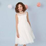 River Island Girls Cream mesh tutu flower girl dress